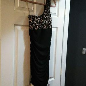 Black & Leopard Dress